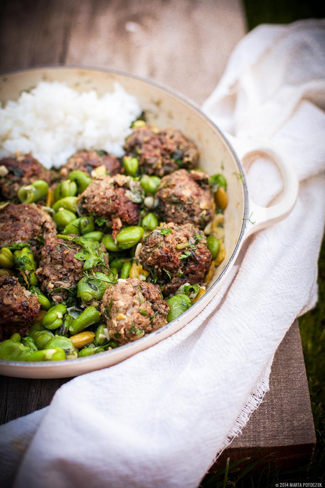 fava beans lamb beef meatballs 1