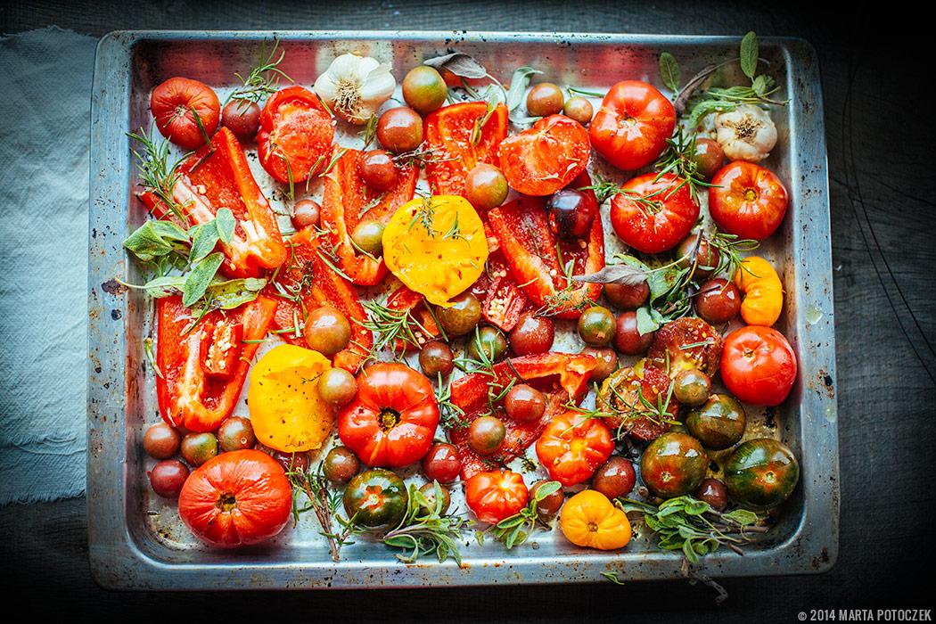 warzywa pieczone do zupy