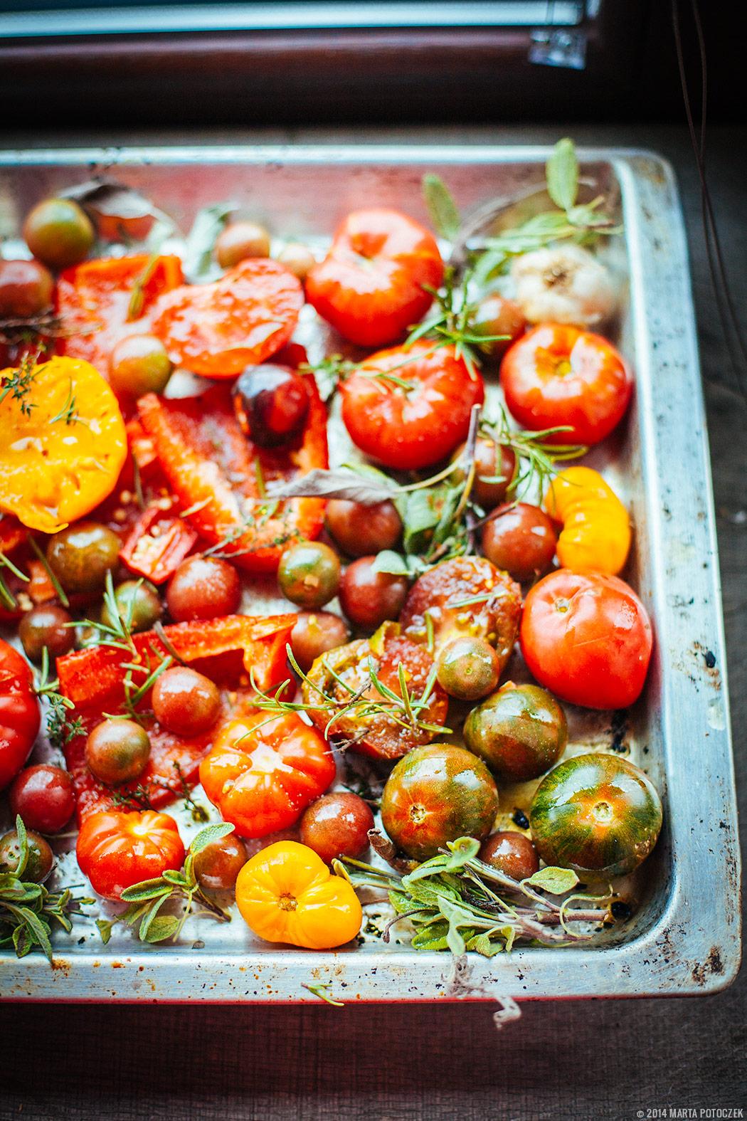 pieczone warzywa do zupy