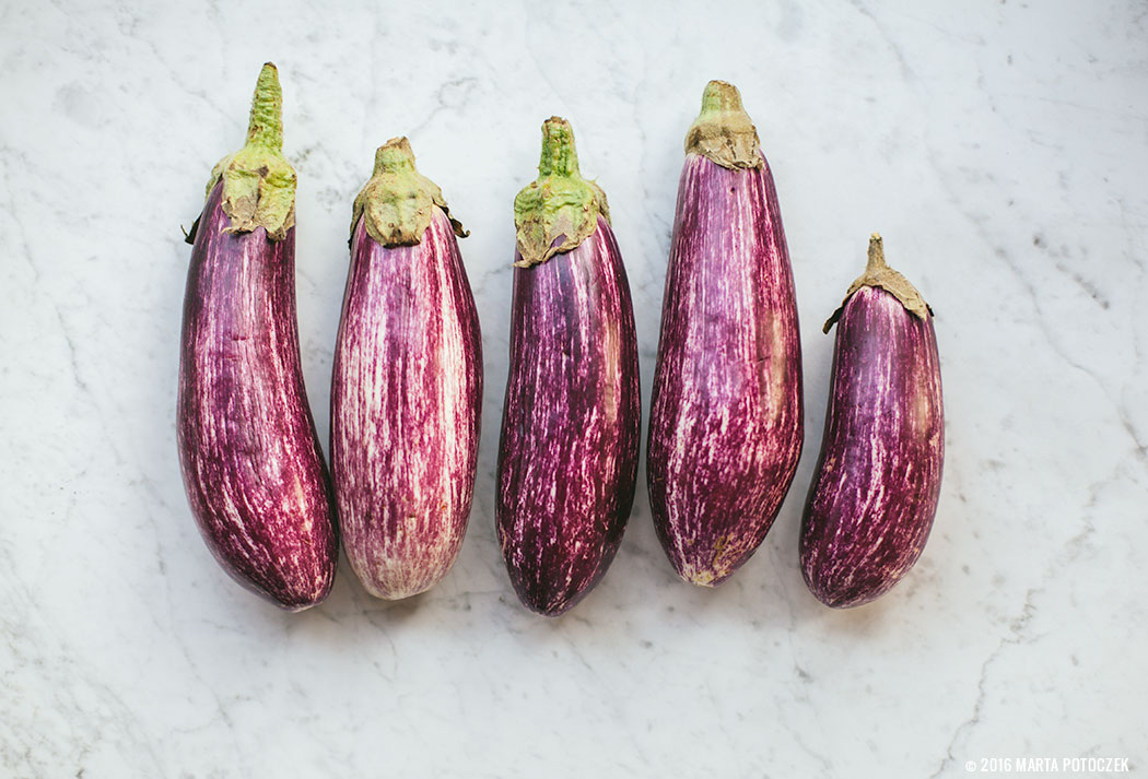white and purple aubergine