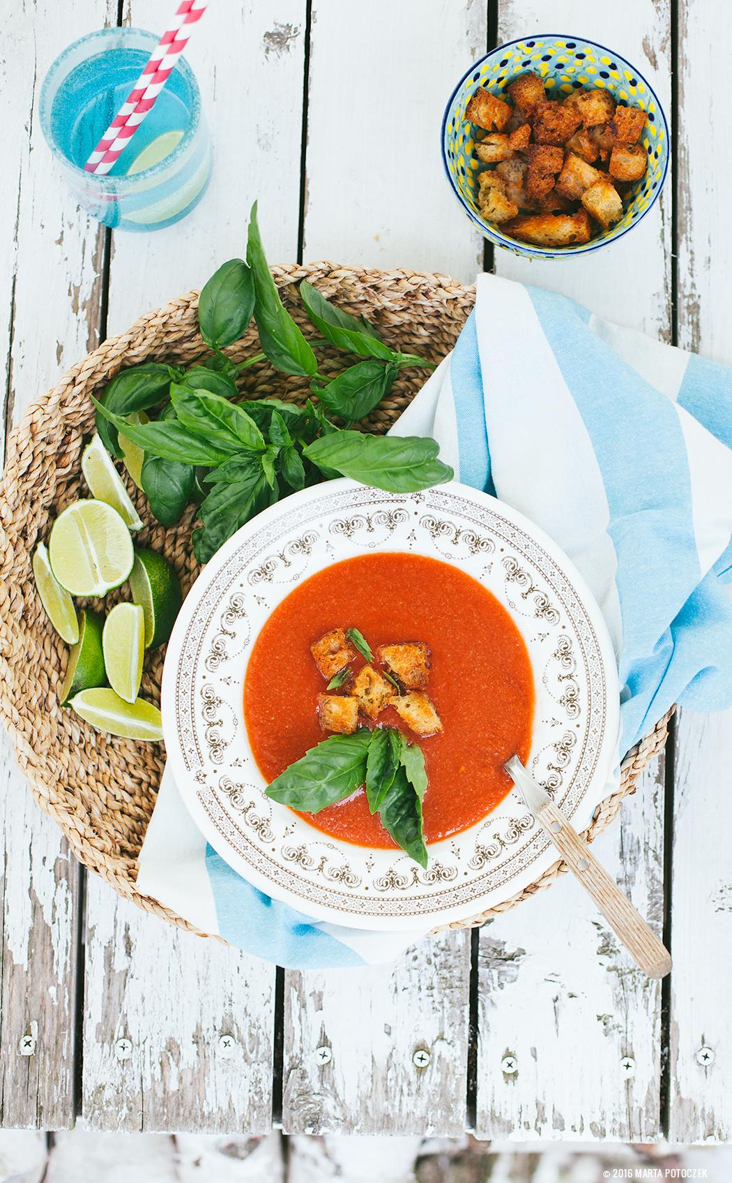 Gazpacho z pomidorów i arbuza
