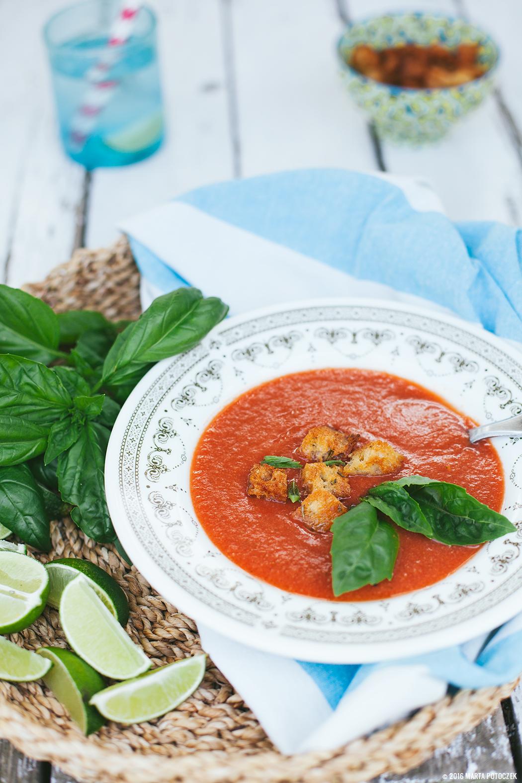 Gazpacho z arbuza i pomidorów