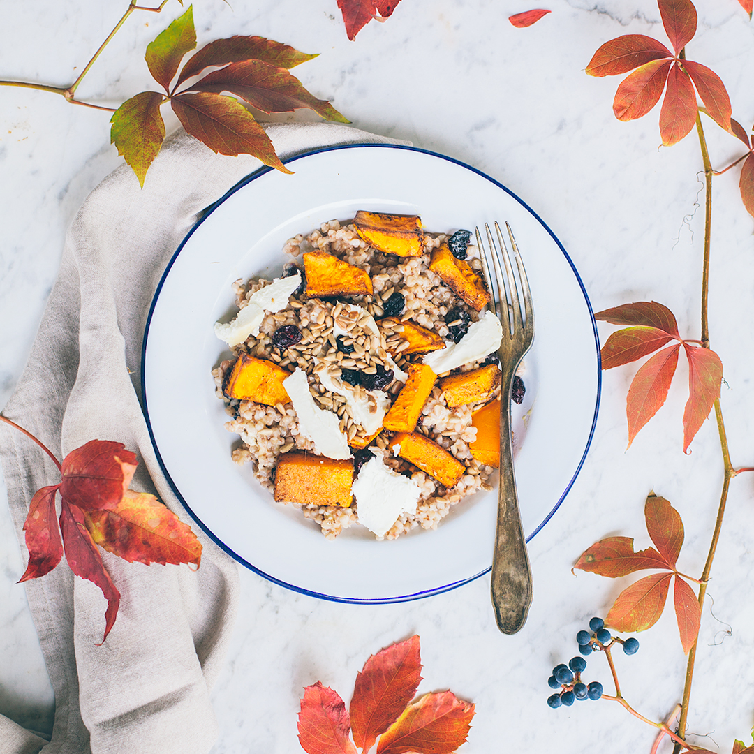Buckwheat and butternut squash salad