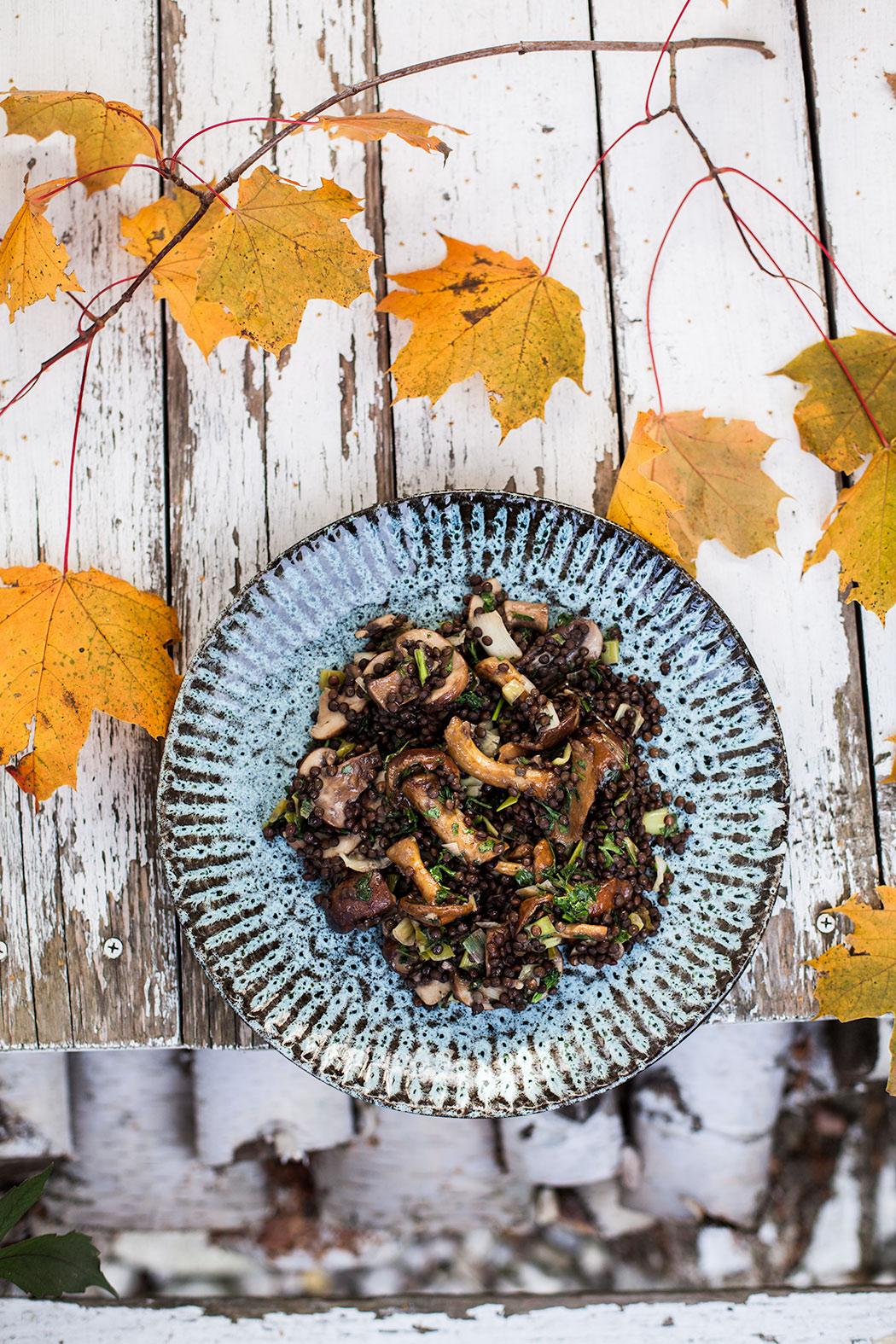 miso sos sojowy grzyby